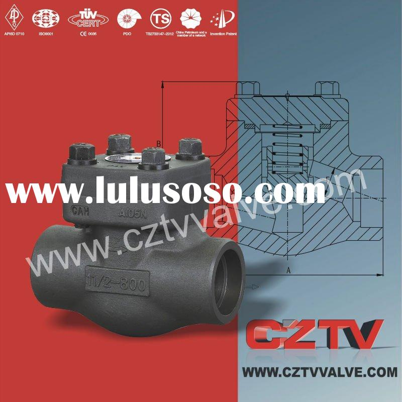 Forged steel spring loaded check valve