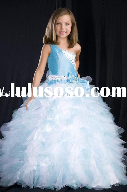 Free Shipping 2010 Style Ball Gown Little Girl's Pageant Dress