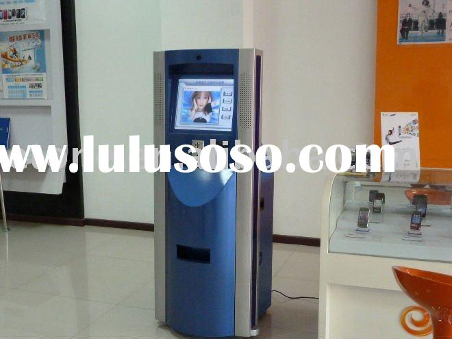 Free-standing Self-service Photo Printing Kiosk with LCD advertising display