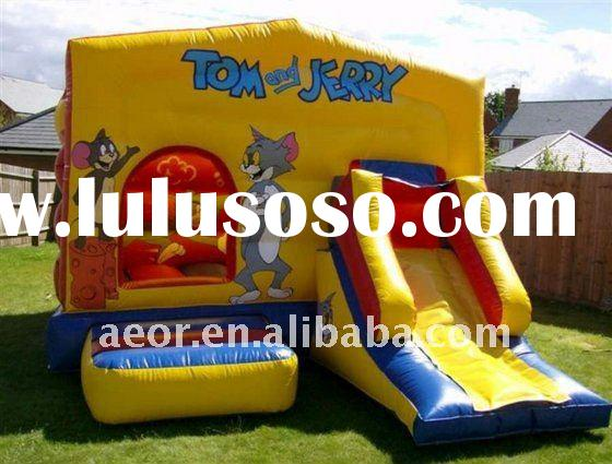 Funny Tom and Jerry inflatable combo with slide