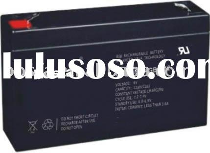 GB6-12 6v12ah sealed rechargeable battery 6v 12ah