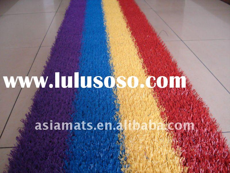 Good Quality Beautiful Colorful Rainbow Artificial Grass Fake Turf