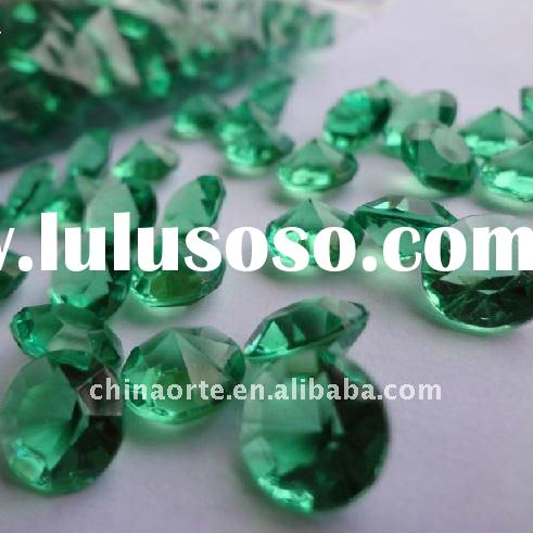 Green Acrylic Table Scatter Diamond Confetti for Wedding Party Decoration DC0047-YAE