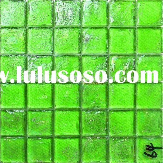Green Grout Glass Mosaic Tile Glossy Glass Tile GS06 for Living Room decoration,bathroom,wall