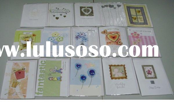 Greeting card gift/ hand made craft decoration sticker / 250 GSM paper / foil /hot-stamping glitter