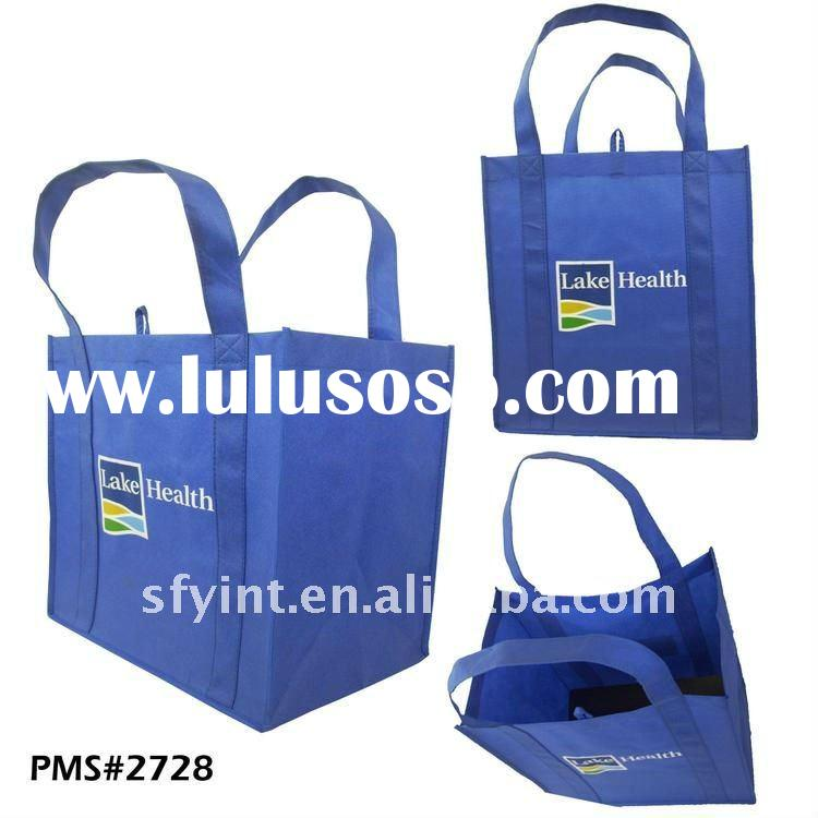 Grocery Non Woven Fabric Carrier Bag With Plastic PP Stiffener