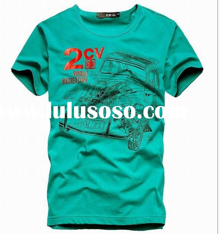 Guangzhou 2011 summer newest design plain printing cotton t-shirts for men sportswear