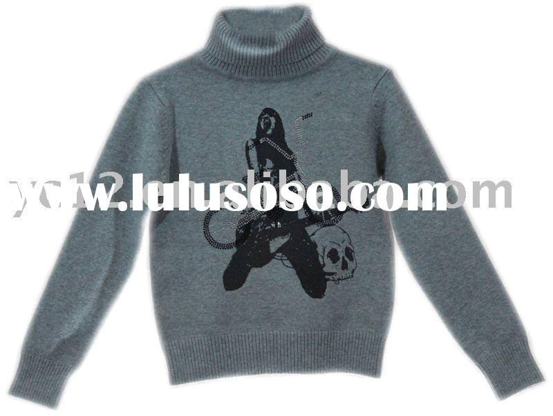 Guitar Pattern knitted pullover kids sweater
