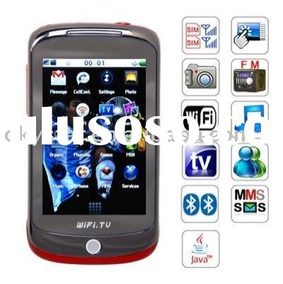 H5 Unlocked 3.2 inch Touch Screen Dual SIM Card WIFI TV mobile phone