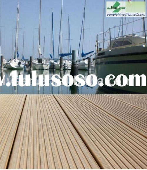 HDPE Wood Plastic Composite Flooring Boards