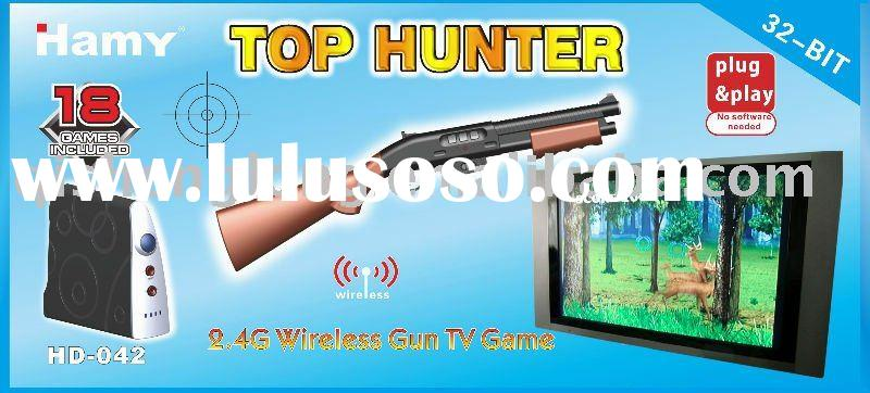 "HD-042 32 BITS ""WIRELESS HUNTING"" Virtual Gun Shoot Play, No Wired Action"