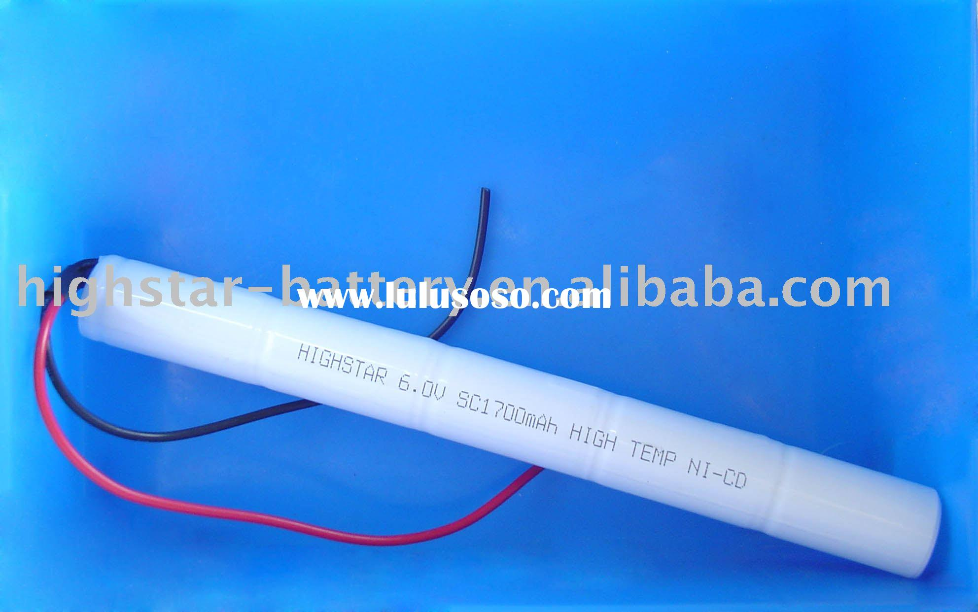 HIGH-TEMP Ni-Cd SC-1700mAh 6V Rechargeable Battery Pack
