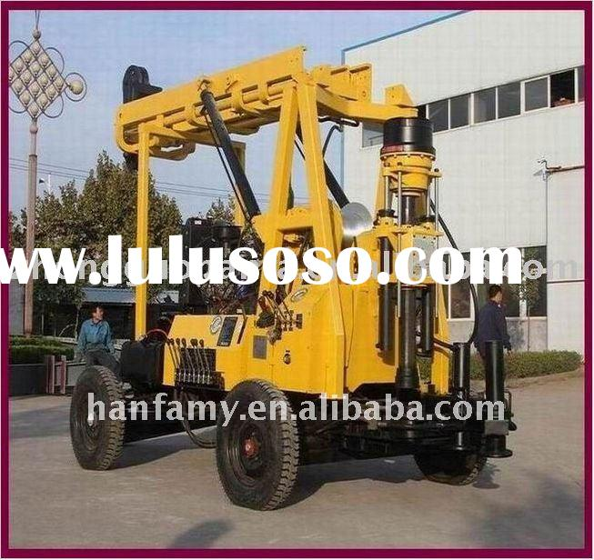 HOT Sell!Diesel Engine and Electric Motor Alternative! HF-3 Trailer Mounted Hydraulic water drilling