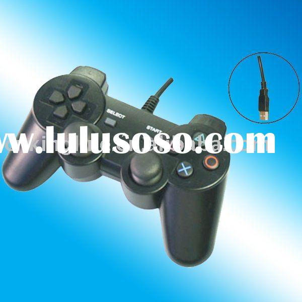 HOT!! black wired dual shock video game controller for PS3