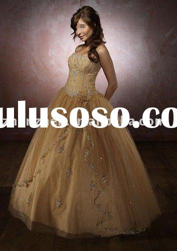H-098 08 New Style Champagne Wedding Dress
