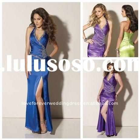 Halter Mermaid Long Cheap Prom Dresses 2012 Style