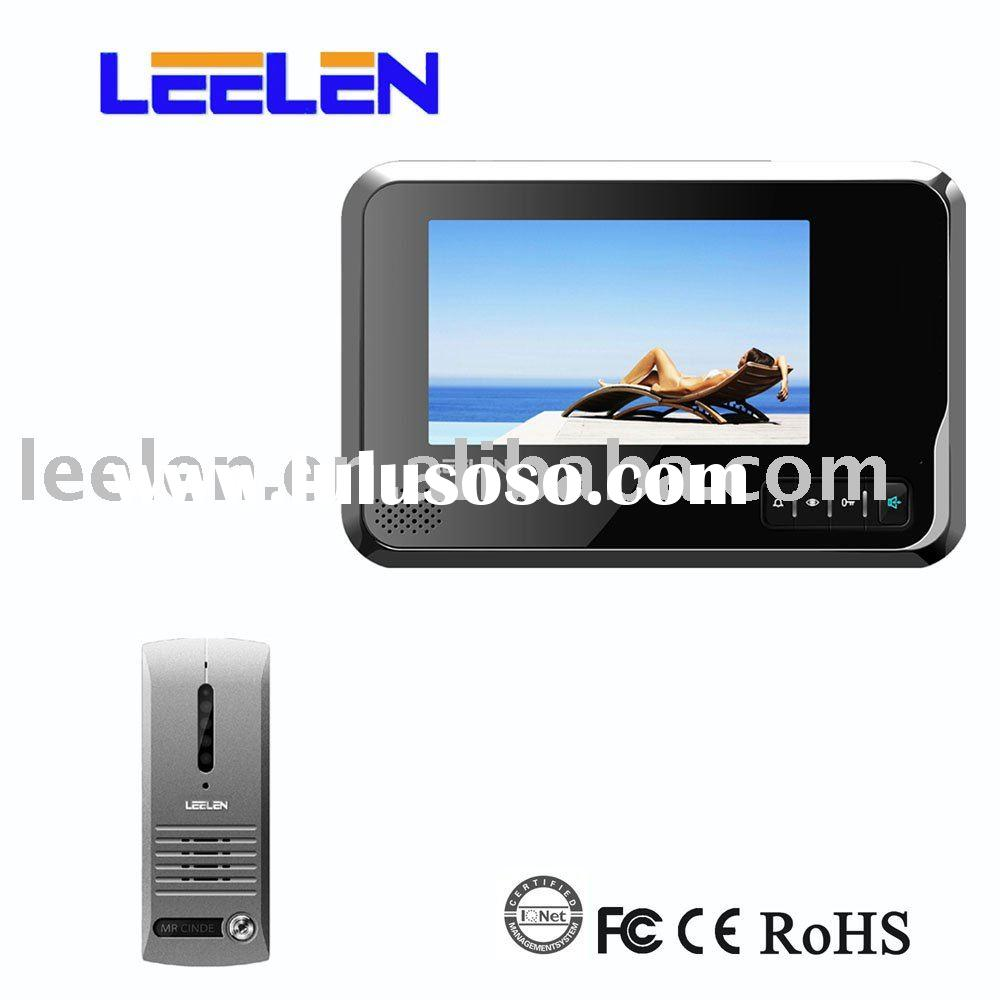 High Definition Villa Video Door Phone System with IR LED Night Vision Monitoring Outdoor Situation