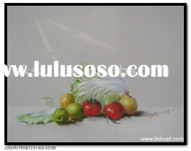 High Quality Still Life Oil Painting-Realist Vegetable Painting