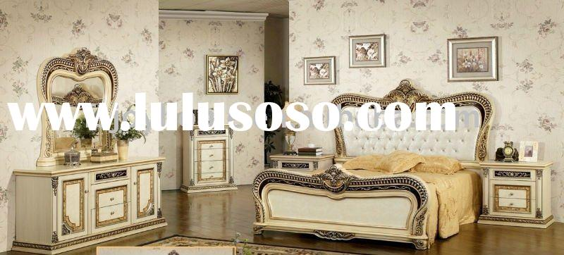 High Quality White Antique Bedroom Furniture & Factory Offer Classical bedroom sets (JH-W232)