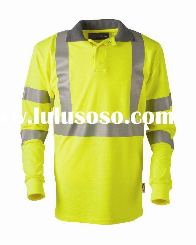 High visibility safety long sleeve t-shirt