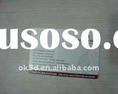 Hot 3d name card made by PP or PET /best 3d business card printing factory has heideberge UV offset