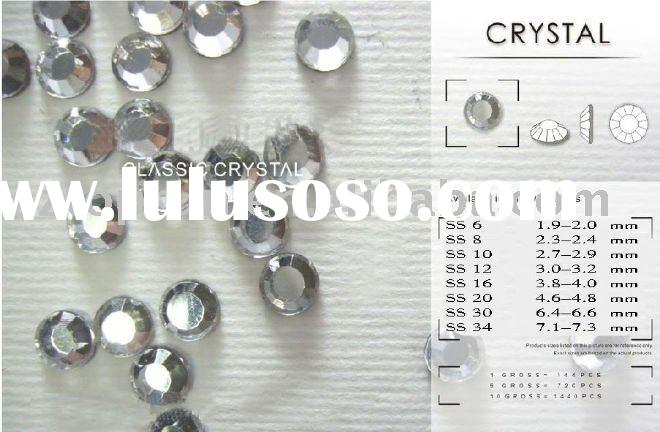 Hot-Fix Rhinestones,Round Flat back ,for Personalized Bags Making,Whole Sizes & Colors