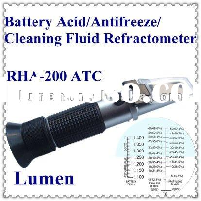Hot Sale! Portable Hand-held Battery Acid/Antifreeze/Cleaning Fluid Refractometer RHA-200 ATC