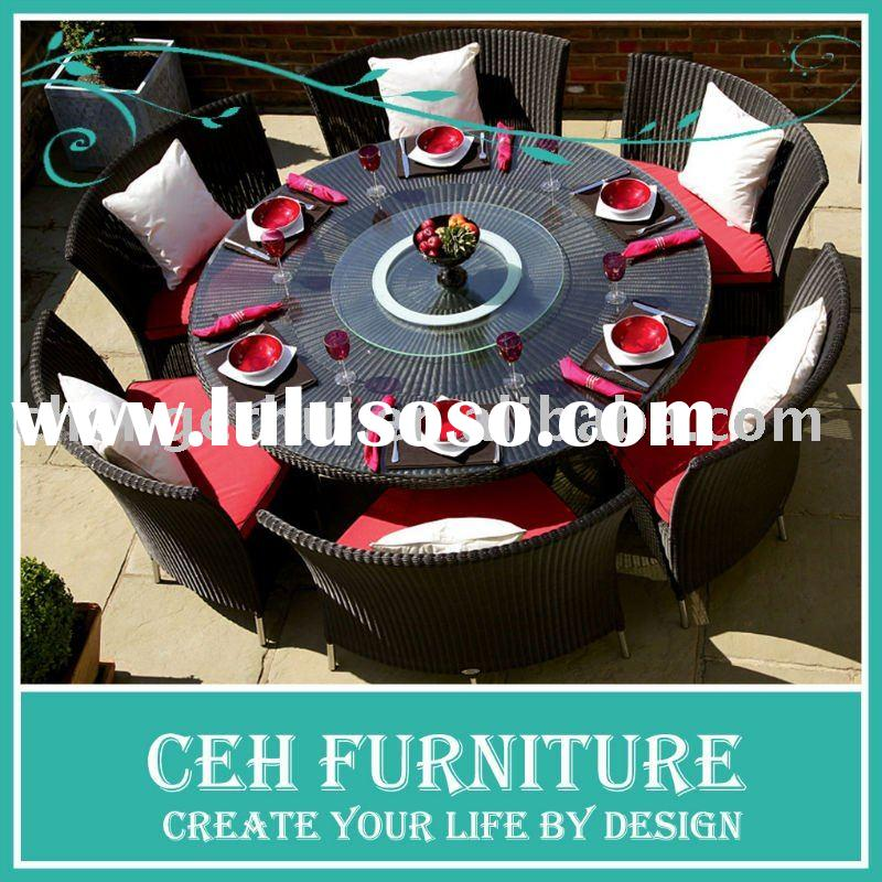 Hot outdoor round dining table with 6 chairs (DH-9582)
