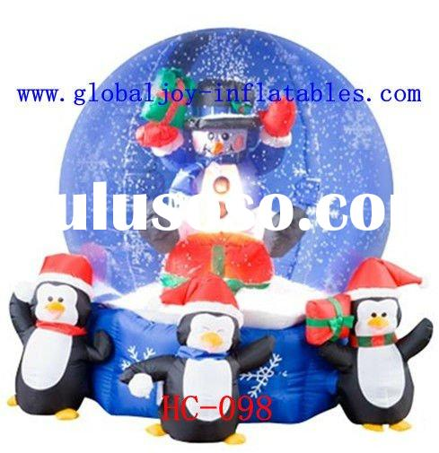 Inflatable Christmas decorations--Christmas globe/ christmas snowman