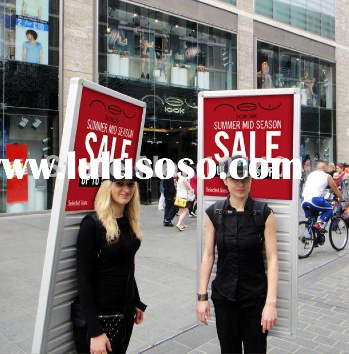 J1-146 New media human backpack mobile digital advertising display with high bright LED light