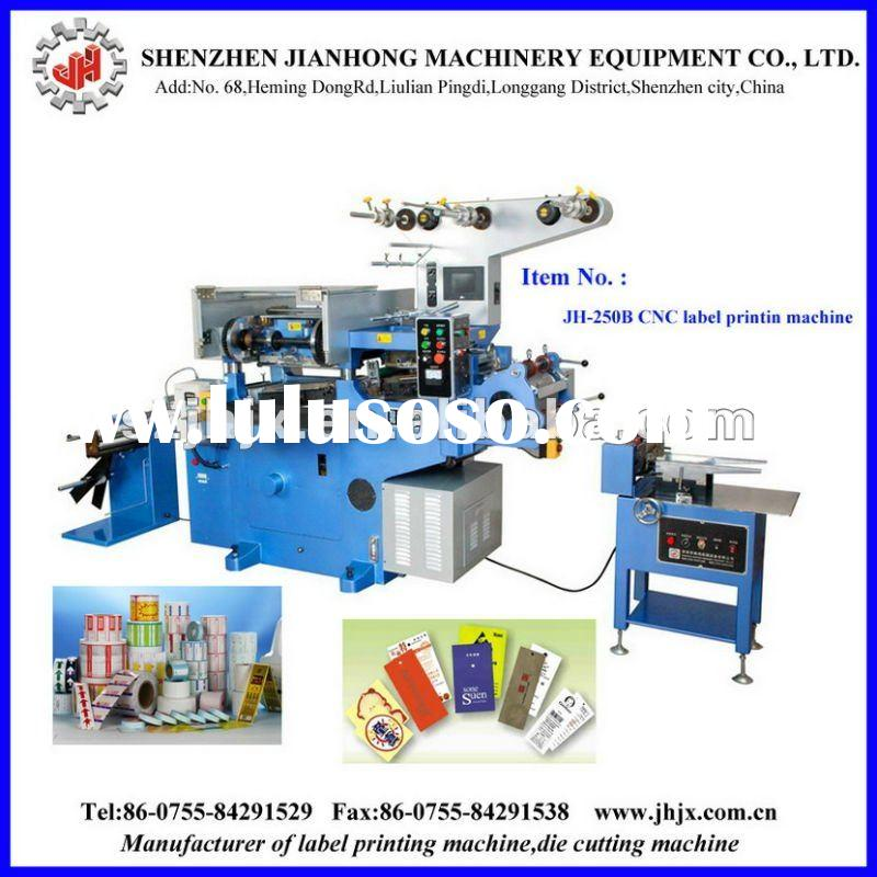 JH-250 Label Printing Machine For Self-adhesive,adhesive tape,ribbon ,aluminum foil ,sponge ,clothin