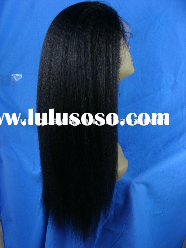 Kinky straight!!!silk top glueless human hair full lace wigs for black women