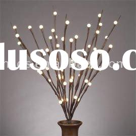 """LED Lighted Branches-20""""brown branch/battery operated w Timer/60 warm white LED"""