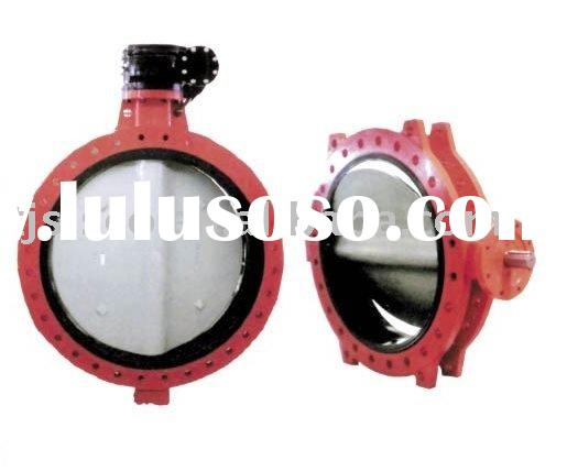 Large Diameter Resilient Seated Double Flanged Butterfly Valve