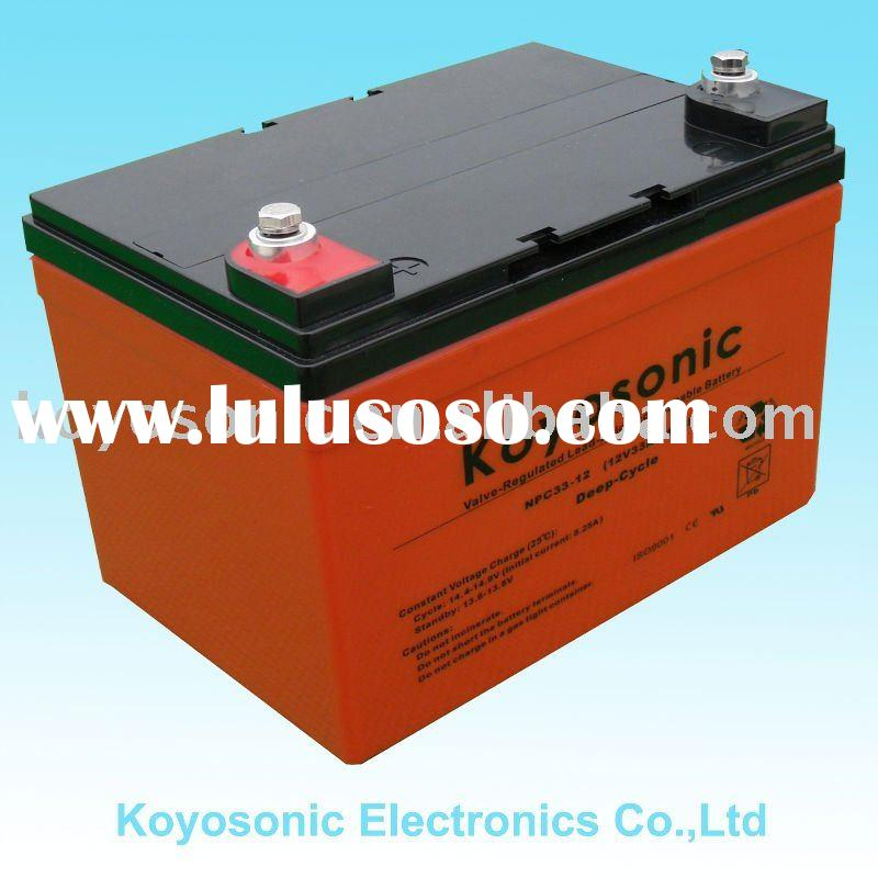 Lead Acid Rechargeable Deep Cycle Battery for Storage-12V33AH-NPC33-12