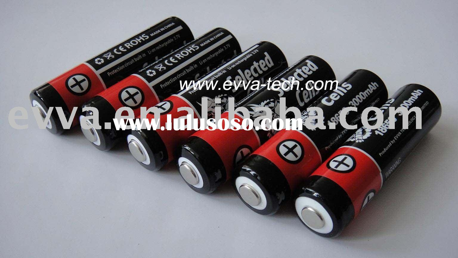 Li-ion rechargeable Flashlight Battery Protected 18650 3000mAh 3.7V