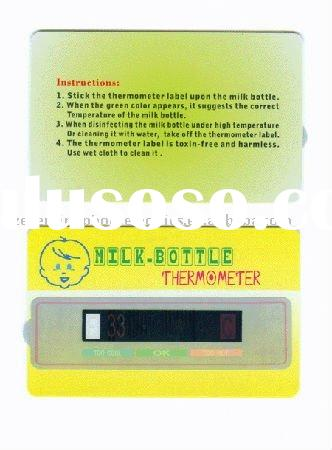 Liquid Crystal Display Milk Bottle Thermometer Card