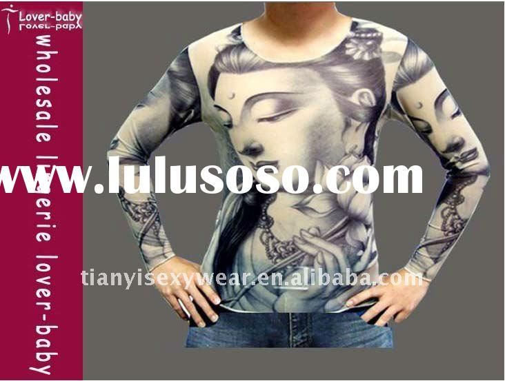 Lotus Buddha Long Sleeve Tattoo T-Shirts