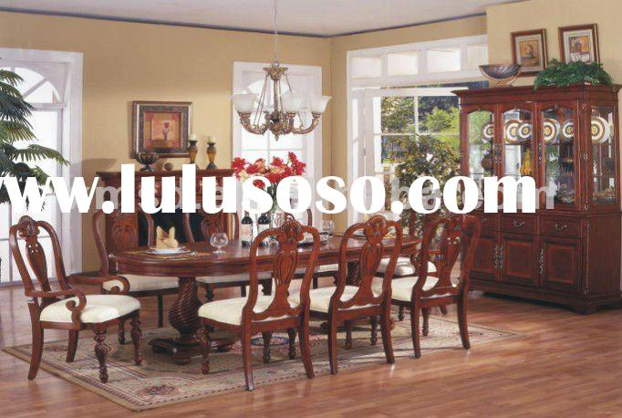 Luxuary wood dining room furniture for wholesale