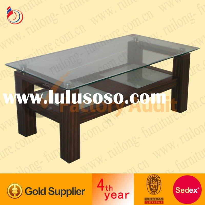 MDF and glass coffee table
