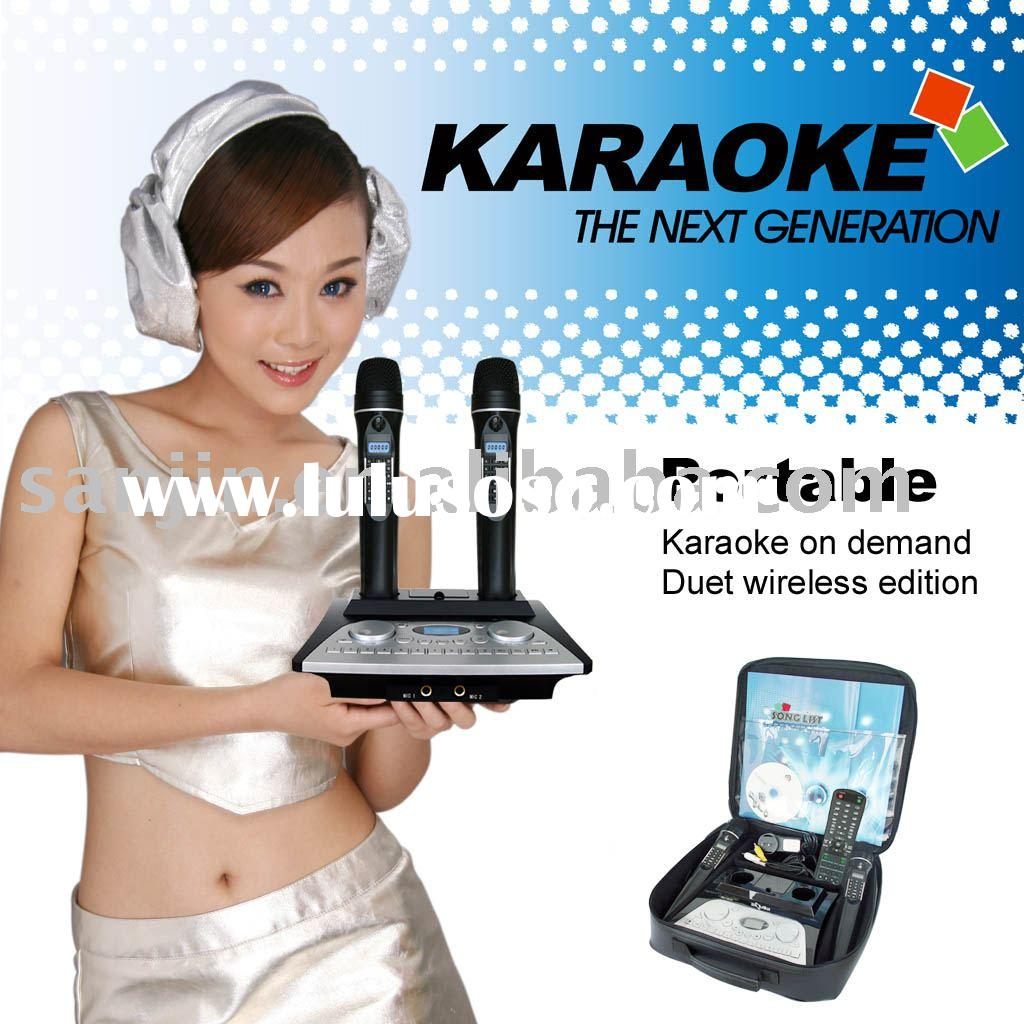 Magic Sing-Along Karaoke Mike System +Wireless Digit Microphone+4PcsSD Card Slots and 500GB Hard Dis