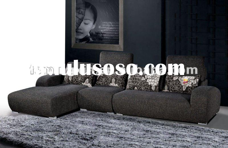 Modern Upholstery Fabric Sofa in Black MX-828A