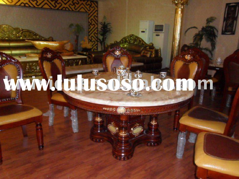 Modern style luxury dining table. Dining room set B46132