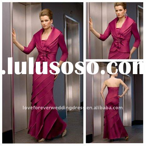 Mother of the Bride Dress With Jacket 2010 Style Custom