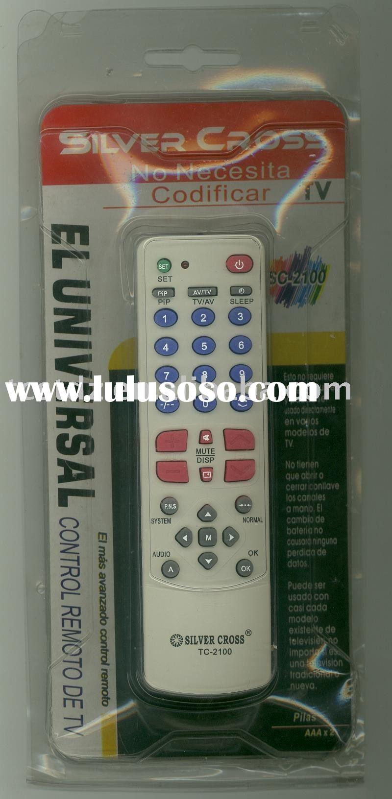 NEW Universal TV Remote Control TC-2100 FOR ALL BRANDS TV,PUSH TO WORK