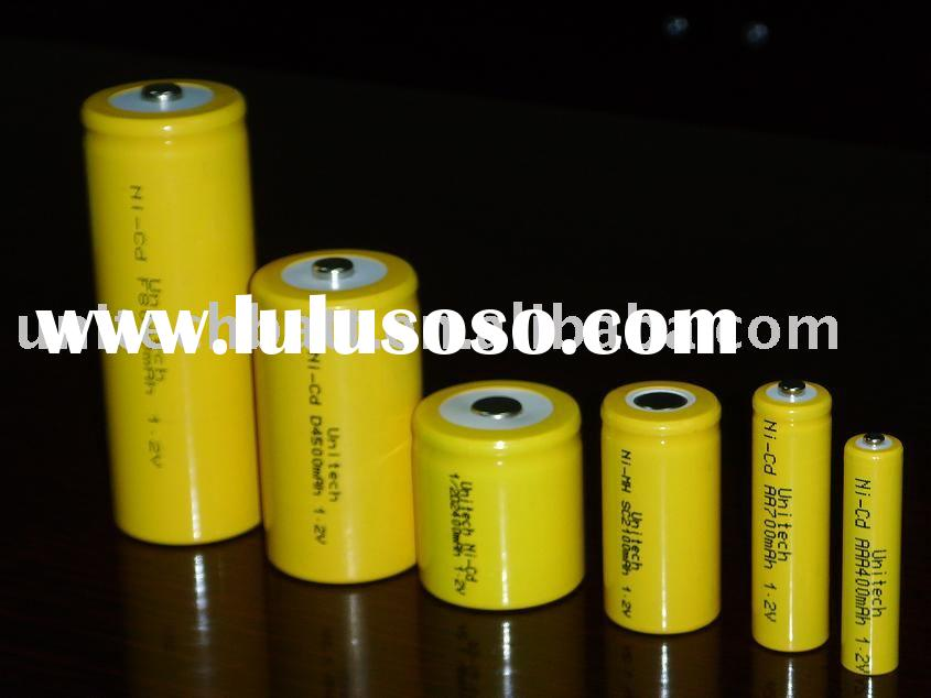 NI-Cd rechargeable batteries(single cell 1.2V AAA AA 9V C D SIZE High capacity