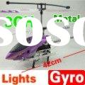 New 42cm 3 ch metal rc radio control helicopter r/c plane toy with flashing lights gyro 1000mah Li-p