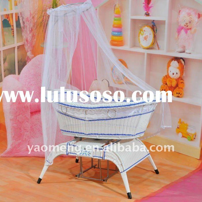New design auto swing electric music baby crib/cot/bed