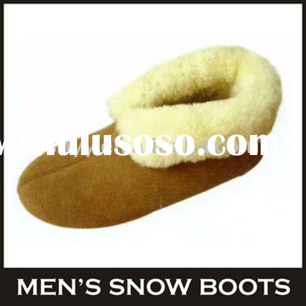 New style casual loafer shoes genuine leather winter boots