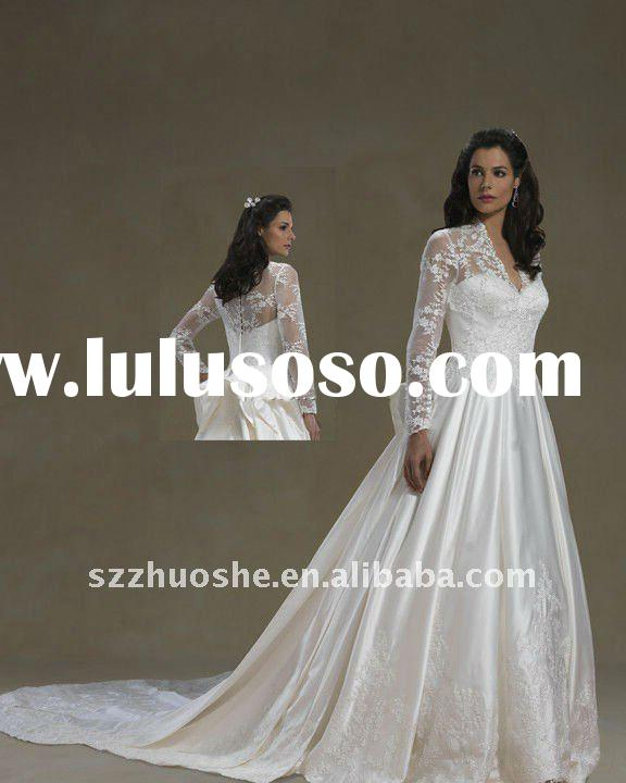 Newest long sleeve wedding gowns BD1271
